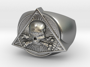 Saint Vitus Ring Size 8 in Natural Silver