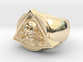 Saint Vitus Ring Size 7 in 14k Gold Plated Brass