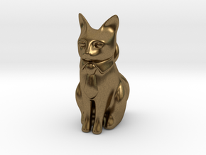 Business Cat in Raw Bronze