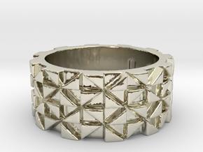 Futuristic Ring Size 4 in 14k White Gold