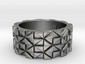 Futuristic Ring Size 4.5 in Natural Silver