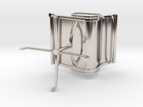 Aluminium Group Style Chair 1/12 Scale in Rhodium Plated Brass