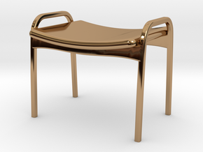 Lamino Style Stool 1/12 Scale in Polished Brass