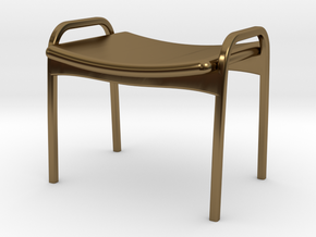 Lamino Style Stool 1/12 Scale in Polished Bronze