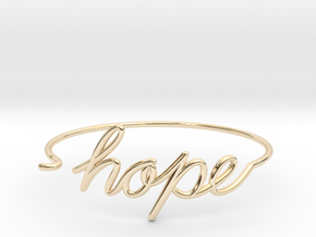 Hope Wire Bracelet in 14k Gold Plated Brass
