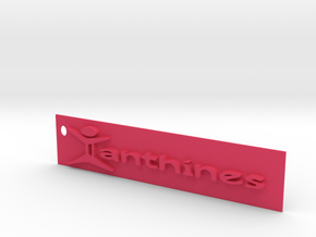Xanthines Logo Key chain in Pink Strong & Flexible Polished