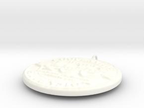 4H Medallion, Large in White Processed Versatile Plastic