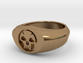 MTG Swamp Mana Ring (Size 7) in Natural Brass