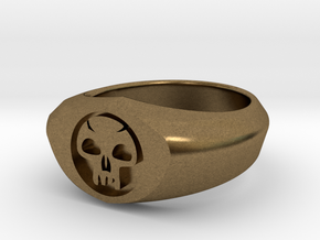 MTG Swamp Mana Ring (Size 7) in Natural Bronze