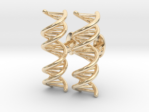 DNA Cufflink in 14k Gold Plated Brass