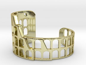 COLOSSEUM BRACELET ORIGINAL (Cut Through) Extra Sm in 18k Gold Plated Brass