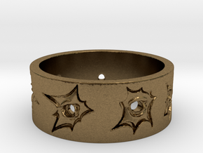 Outlaw Bullet Holes Ring Size 14 in Natural Bronze