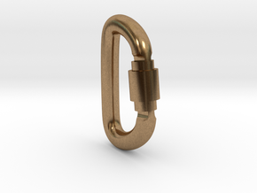 Carabiner Pendant (Large) in Natural Brass