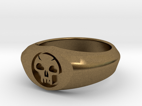 MTG Swamp Mana Ring (Size 8) in Natural Bronze