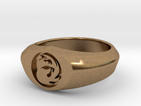 MTG Mountain Mana Ring (Size 8) in Natural Brass