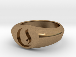 MTG Island Mana Ring (Size 8) in Natural Brass