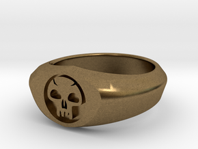 MTG Swamp Mana Ring (Size 8 1/2) in Natural Bronze