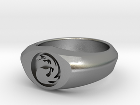 MTG Mountain Mana Ring (Size 8 1/2) in Natural Silver