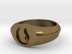 MTG Island Mana Ring (Size 8 1/2) in Natural Bronze