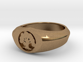 MTG Forest Mana Ring (Size 8 1/2) in Natural Brass