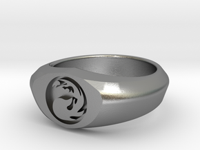 MTG Mountain Mana Ring (Size 9) in Natural Silver