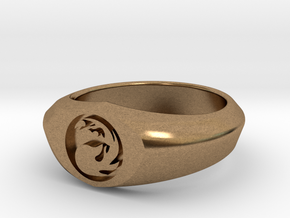 MTG Mountain Mana Ring (Size 10) in Natural Brass
