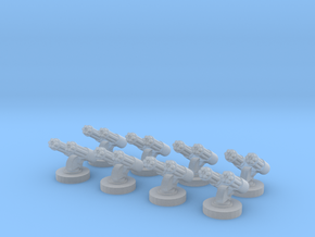 8 Double Gatlings for 6mm, 1/300 or 1/285 in Smooth Fine Detail Plastic
