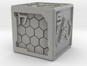Cyberpunk-themed Dice in Metallic Plastic