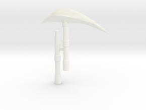 Nemesis Scythe in White Processed Versatile Plastic
