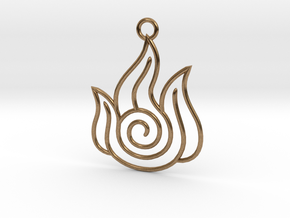 Avatar the Last Airbender: Fire in Natural Brass