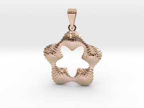 0064 Antisymmetric Torus Pendant (p=5.0) #005 in 14k Rose Gold Plated