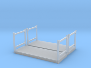 N Scale 20ft Flatrack Container #1 (2pc) in Smooth Fine Detail Plastic