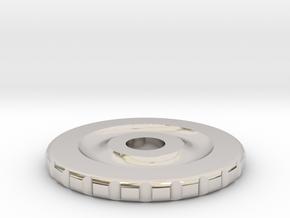 Rotary Encoder Wheel in Rhodium Plated Brass