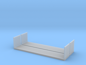 N Scale 40ft Flatrack Container #2 (2pc) in Smooth Fine Detail Plastic