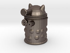 Dalek Hollow in Polished Bronzed Silver Steel
