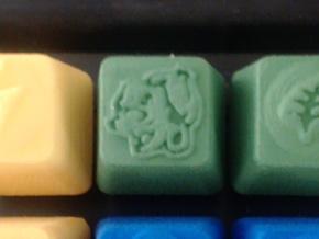 Bulbasaur Cherry MX R4 Keycap in Green Processed Versatile Plastic