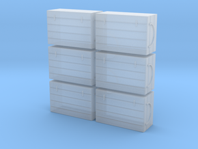 HO 6 Fish Crates in Smooth Fine Detail Plastic