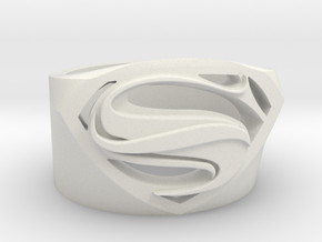 Superman Ring - Man Of Steel Ring Size US 7 in White Natural Versatile Plastic