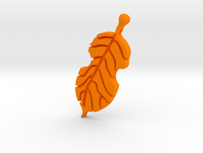 Violin Leaf in Orange Strong & Flexible Polished