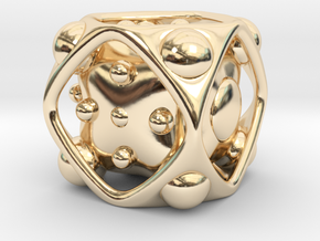 Dice No.2 M (balanced) (2.4cm/0.95in) in 14K Yellow Gold