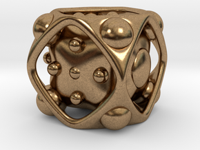 Dice No.2 M (balanced) (2.4cm/0.95in) in Natural Brass