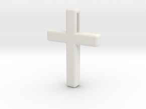Cross Cube 35-25-5 in White Natural Versatile Plastic