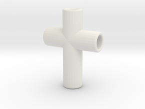 CrossPipes24-18-6-1 in White Natural Versatile Plastic