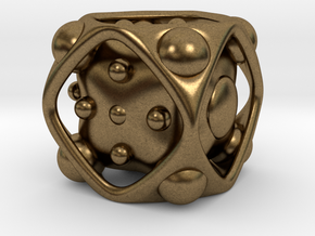 Dice No.2 L (balanced) (3.6cm/1.42in) in Natural Bronze