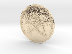 Elder Sign Coin in 14K Yellow Gold