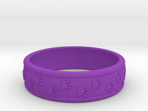 Size 7 Pet Paw Ring A  in Purple Processed Versatile Plastic