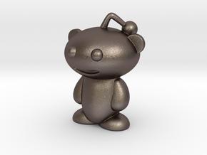 Reddit Alien Figure 3 inches in Polished Bronzed Silver Steel