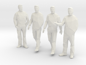 x4 1:100 Architectural Men in White Natural Versatile Plastic