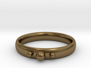 Ring with beads in Natural Bronze