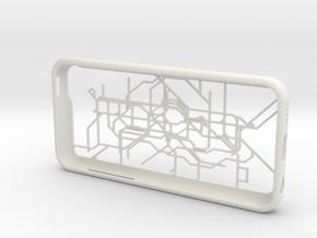 London subway/underground map iPhone 5c case in White Natural Versatile Plastic